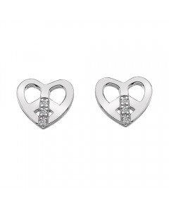 Hot Diamonds Sterling Silver Micro 'Love and Peace' Earrings DE334